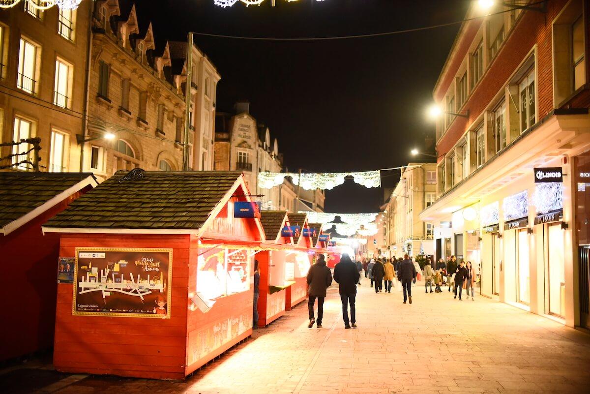 Chalets dans les rues d'Amiens